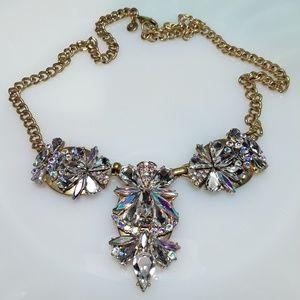 J. Crew Aurora Borealis Swarovski Crystal Necklace